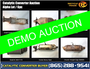 Catalytic Converter Demo Auction |  6 Units