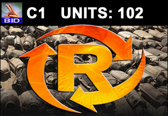 C1 Auction - 102 Units On A Call | Scrap Catalytic Converter Auction