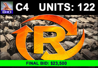 C4 Auction - 122 Units On A Call | Scrap Catalytic Converter Auction