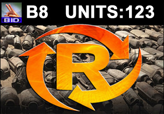 B8 Auction - 123 Units On A Call | Scrap Catalytic Converter Auction
